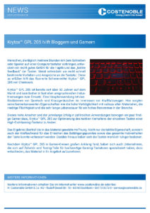 Costenoble News - Krytox™ GPL 205 helps Bloggers and Gamers