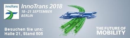Logo InnoTrans 2018 in Berlin