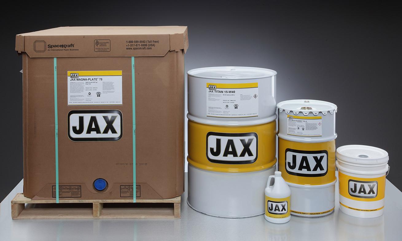 Zusammenstellung und Logo All JAX Inc. Packaging