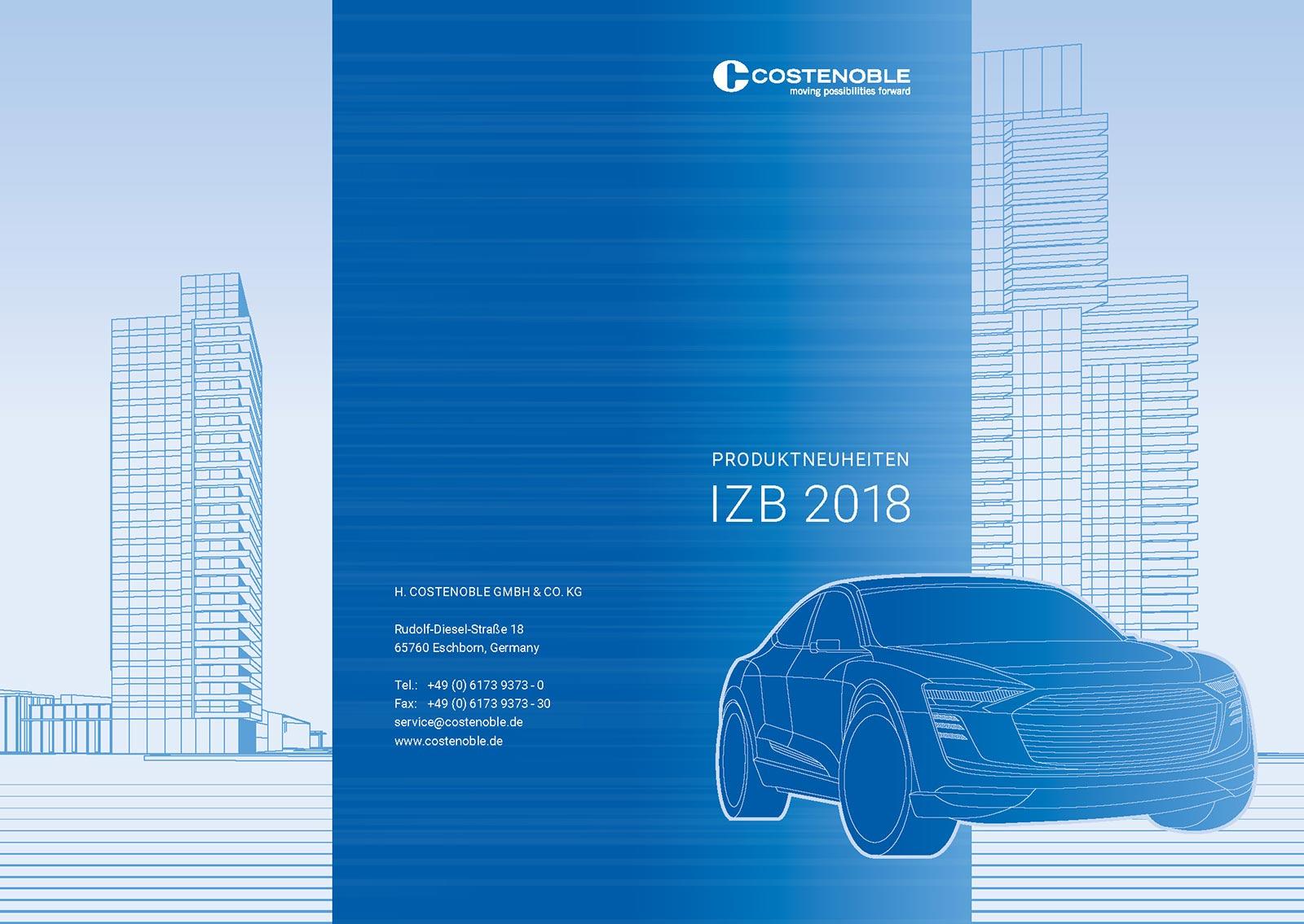 Cover Produktneuheiten - H. Costenoble auf der IZB 2018 in Wolfsburg