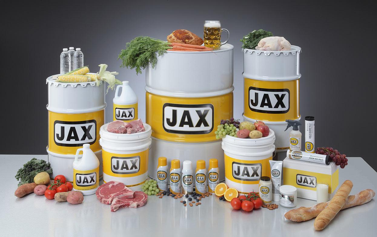 Zusammenstellung und Logo FG JAX Inc. Packaging