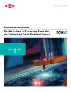 Broschüre zu DOWSIL™ Innovative Silicone Conformal Coatings in englischer Sprache - Titelblatt