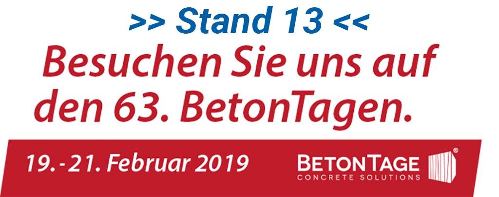 63. BetonTage in Neu-Ulm - Logo + Besuchen Sie uns