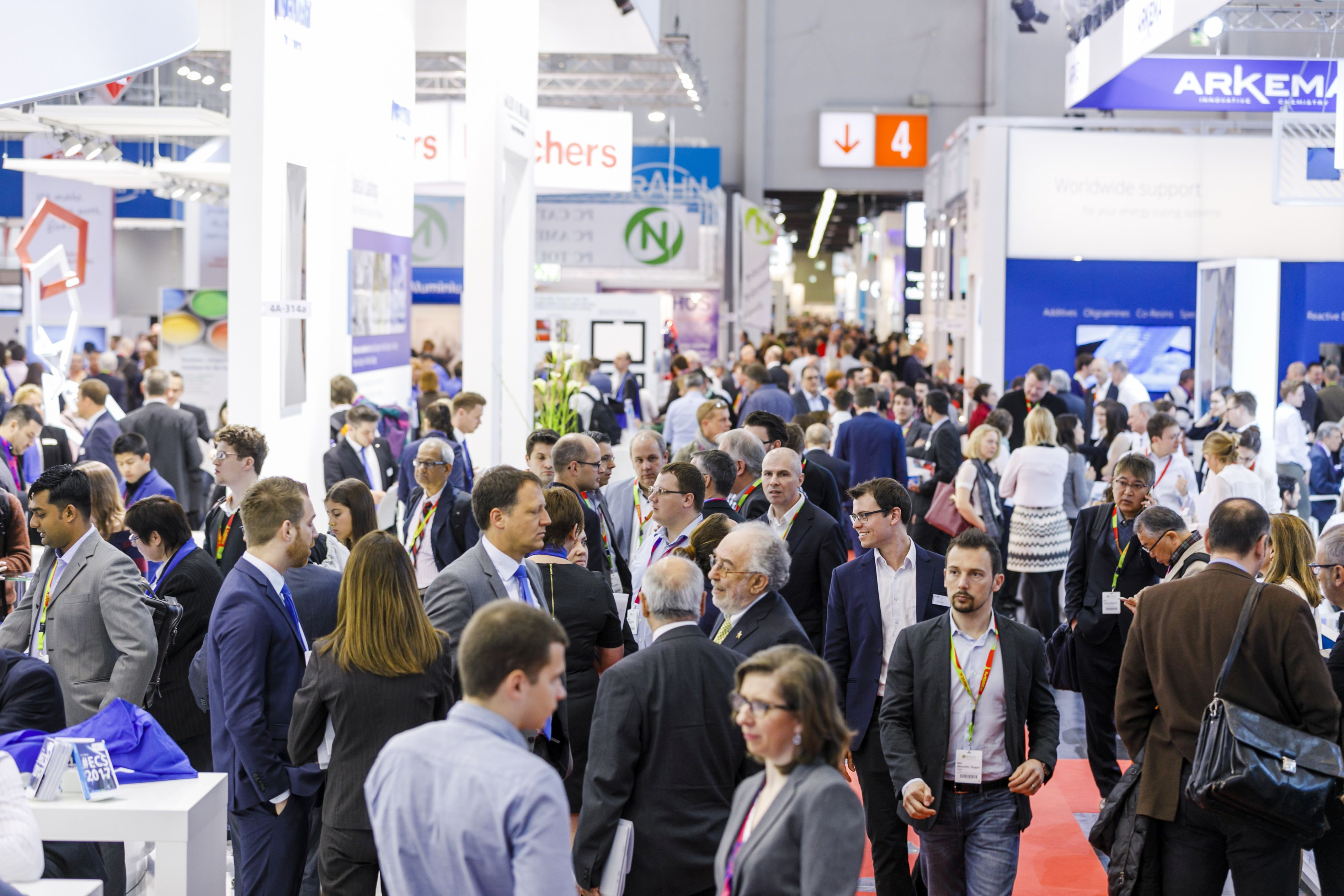 Impression of 2017 European Coatings Show 2017 (© Picture source: www.european-coatings-show.com)