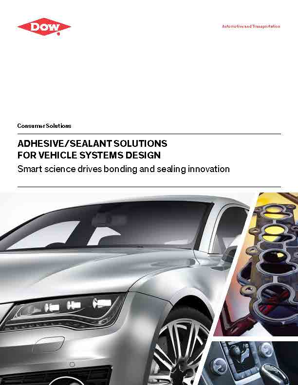 Dow - Broschüre - Adhesive Sealant Solutions for Vehicle System Design Selection Guide - Ttitle
