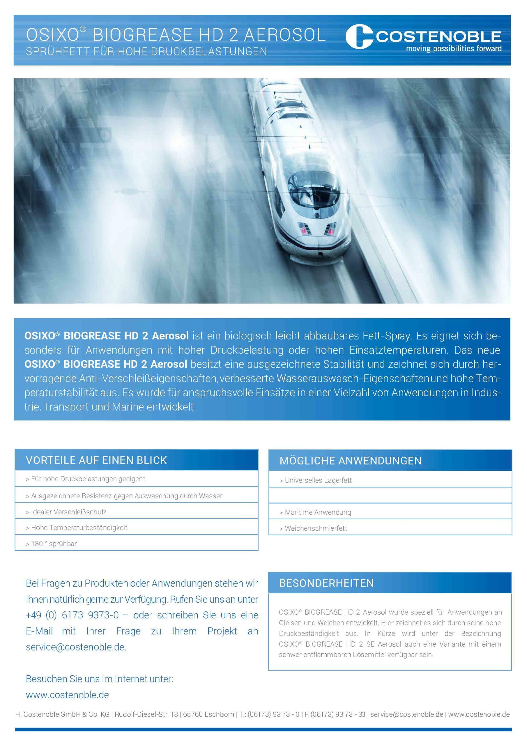 OSIXO® Biogrease HD2 Aerosol - Cover